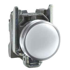 Harmony XB4 - voyant lumineux DEL - D=22 - blanc - 230V - vis étrier