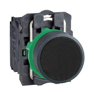 Harmony XB5 - bouton poussoir - affleurant - 1F - D=22 - noir