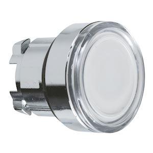 Harmony tête de bouton poussoir lumineux - D=22 - blanc
