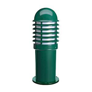 CALEO 1 - Borne Ext. IP44 IK07, vert, E27 100W max., lampe non incl., haut.42cm