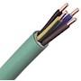 Câble FR-N1X1G1 LSOH sans halogène cuivre 3G1,5 classe 1 vert à la coupe