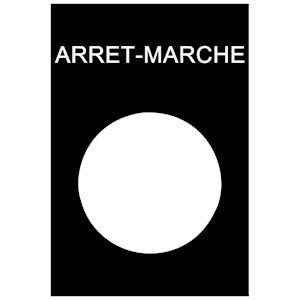 Harmony - étiquette - 30x40mm - noir - ARRET-MARCHE