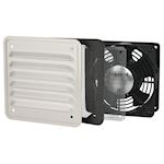 Ventilateur 30/160 m³/h avec ouïe métal - IP32 IK10 - RAL7032