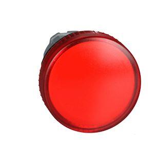 Harmony XB4 - tête voyant BA9s - cabochon lisse - rouge - D=22