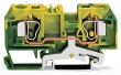 Borne de protection 2C / 10 mm² / CFMC / Vert-Jaune
