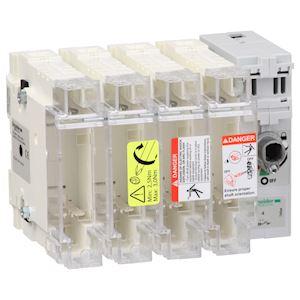 TeSys GS - interrupteur sectionneur fusible - 4P - 100A - 22x58 mm