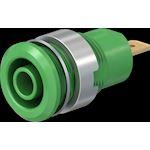 Douille 4 mm de sécurité vert