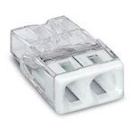 Borne Wago 2273 - 2 x 0,5 à 2,5mm² Transparent / Blanc