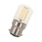 LED Filament T28X60 B22d 240V 1.6W 2700K Clair