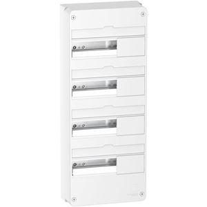 Resi9 - Coffret en saillie Blanc (RAL 9003)- 4 rangées de 13 modules