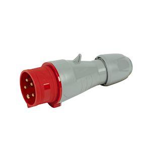 FICHE DROITE 16A 4P+T 380/415V IP44