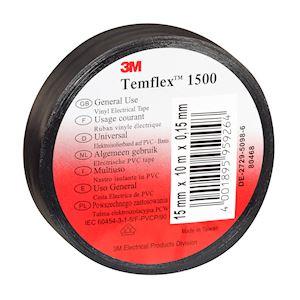 Temflex  1500 Noir 15mmx10m