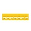 Réglette Mémocab - code coul international - l 2,3 mm - chiffre 4 - jaune