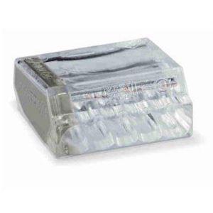 Borne individuelle isolée transparente côté gris clair 5 C (1-2,5 mm²)