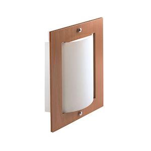 BELLA - Applique Mur E27 60W max., bois clair, verre opale, lampe non incl.