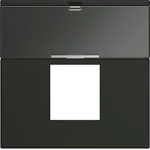 Enjoliveur prise RJ45 gallery avec porte-étiquette 2 modules night