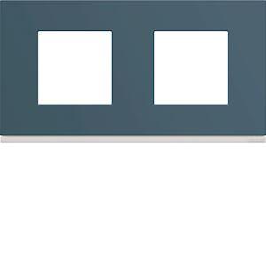 Plaque gallery plastique peint 2 postes horizontale 71mm river