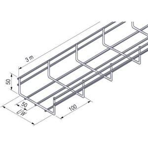 Chemin de câbles fil standard UF 54x100, GC