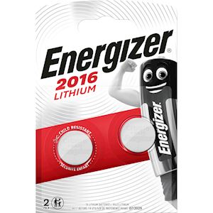 ENERGIZER PILE MINIATURE LITHIUM  CR2016x2. Pile bouton utilisée pour montres, c