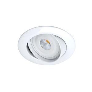 GALAXY - Encastré GU10, rond, basc., blanc, a/lpe LED 6W 4000K 480lm incl.