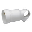 Prolongateur 2P+T - 16 A - plastique - anneaux - blanc
