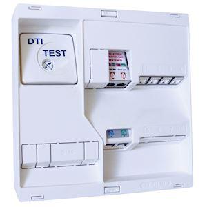 Tableau de communication NEO Grd2TV - 4 RJ45 DTI + Filtre TV 2S
