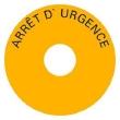 Etiquette JNE 80mm arrêt urgenc en français