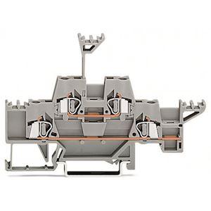 Borne de passage à 2 étages / Pontage horizontal additionnel / Gris / Gris / 2,5