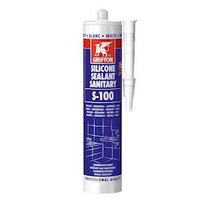 S-100 Mastic silicone sanitaire blanc sur base acétique cart 300ml