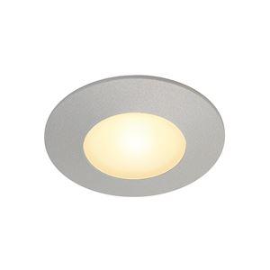 AITES LED ROND pour boîte d'encastrement, gris argent, 3000K