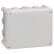 Bte rect 155x110x74 étanche Plexo Gris - embout (10) -IP55/IK07- 750°C