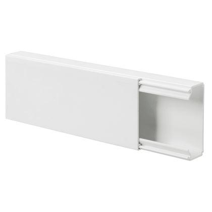 blanc Conduit de c/âble goulotte de distribution deleyCON Universal c/âblage facile de c/âbles et fils PVC de grande qualit/é longueur 50 cm hauteur 2 cm largeur 6 cm