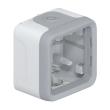 Boîtier à embouts Prog Plexo composable - 1 poste - Gris