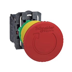 Harmony XB5 - bouton arrêt urgence - D=40 - pousser tourner - rouge - 1O+1F - vi