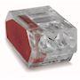 Borne individuelle isolée transparente côté rouge 2C (1-2,5 mm²)
