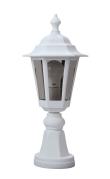 NIZA - Borne Ext. IP44 IK02, blanc, E27 46W max., lampe non incl., haut.45cm