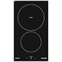 Domino induction 30 cm - 2 foyers - 3,4 kW - Commandes sensitives - 1 booster -