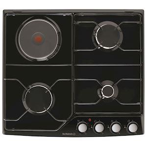 Plaque de cuisson 60 cm Mixte  Noir