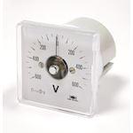 VOLTMETRE CLASSIC C48-90DEG 0-500V CL1,5