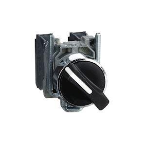 Harmony XB4 - bouton tournant manette - D=22 - 2 pos fix - noir - 1O+1F - vis ét