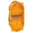 Boîte multiposte Batibox - cloison sèche - 2 postes - 4/5 mod - prof. 40 mm