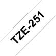 Ruban TZe251, 24mm Noir sur fond Blanc, Laminé, 8M