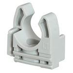 Lyre grise pour tube IRL D=25mm avec fixation des tubes par simple clipsage