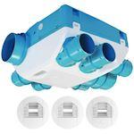 Kit VMC hygro basse conso 18 W-Th-C. Bouches piles et détection de présence