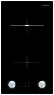 Domino vitrocéramique 30 cm - 2 High-Light - 3 kW - Manettes frontales - Témoins