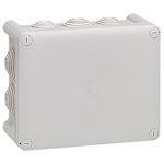 Boîte de dérivation rectangulaire Plexo dimensions 155x110x74mm - gris RAL7035