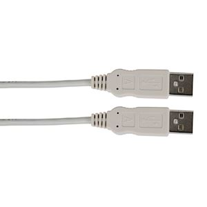 CORDON USB 2.0 TYPE AA MALE/MALE 1M