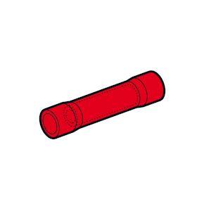 Manchon préisolé bout à bout rouge (0,25 à 1,5 mm²) en boite plastique