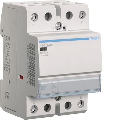230/V 2/Na Hager esc240s Contacteur Silencieux 40/A