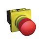 Unica - coup de poing d'urgence NO/NF 10A - jaune / rouge - 2 mod - méca seul